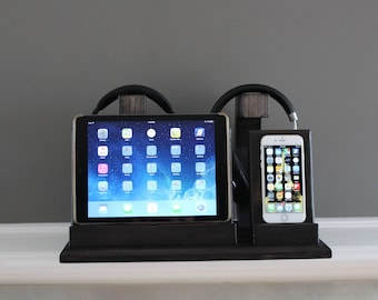 Ipad and Phone Dock headphone and Charging Station