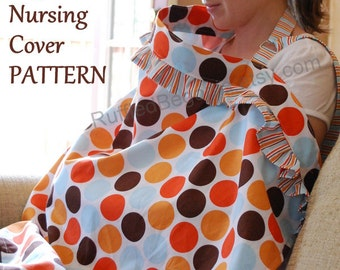 Breastfeeding Nursing Cover up with Ruffles PDF SEWING PATTERN