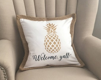 Welcome Yall pillow cover