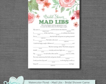 bridal shower mad libs game mad libs bridal shower game printable bridal shower