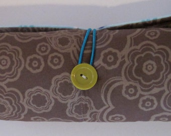 SALE!!! Roll Up Changing Pad, Brown, Blue and Green Alphabet