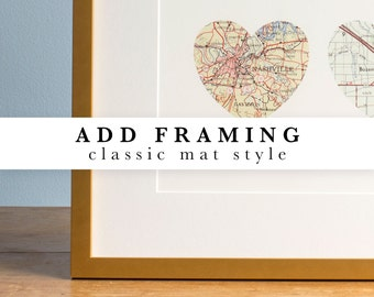 Add a frame - Classic mat style - Black, White, Gold or White Maple