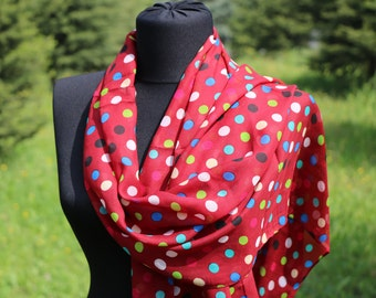 Point Scarf / Point Shawl / Scarf For Mom / Mother's Day Gift Scarf / Point Scarf Shawl/ İnfinity Scarf / Gifts For Mom / Red Point Scarf