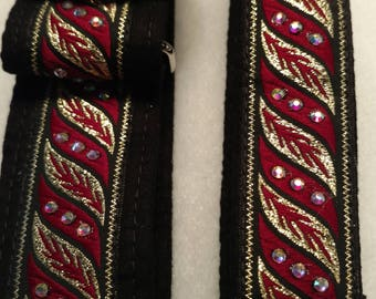 """Matching 1""""Tag &1 1/2"""" Martingale Collar #172"""