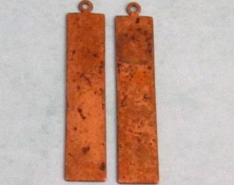 Vintaj  Copper Rectangle Tag Blank, 41 MM, 2 pc. V118