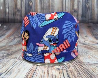 Women's Pixie Style Scrub Hat (Lilo and Stitch)