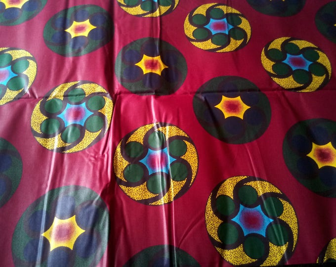 1 YARD Traditional African Print  Fabrics For Dresses& Craft Making /Sewing Fabric /African Ankara Craft Fabric /Kitenge Pagnes Chitenge