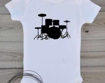 Drum Set // Baby Apparel, Toddler Shirts, Trendy Baby Clothes, Cute Baby Clothes, Baby and Toddler Clothes