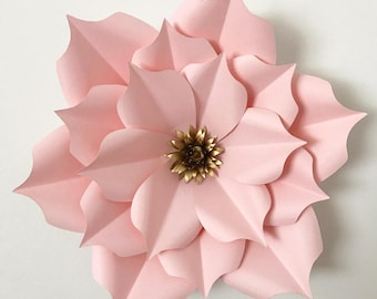 Pdf petal 3 giant paper flower templates 3d and diy paper pdf petal 5 paper flower template printable for trace and cut purposes in making giant paper flowers for wedding and events flower backdrop mightylinksfo