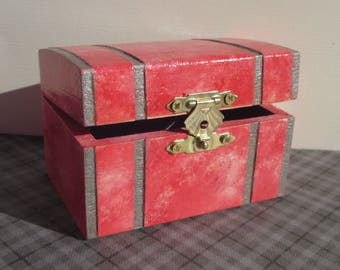Pink Treasure Trinket Jewelry Chest