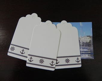 Navy collection: 10 in strong white 4 x 7 cm decorated masking tape
