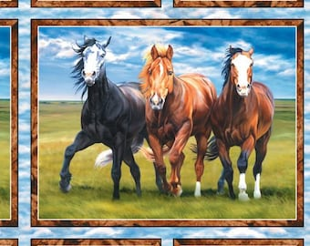 """Wild At Heart 24"""" x 44"""" panel from Wilmington Prints By the panel"""