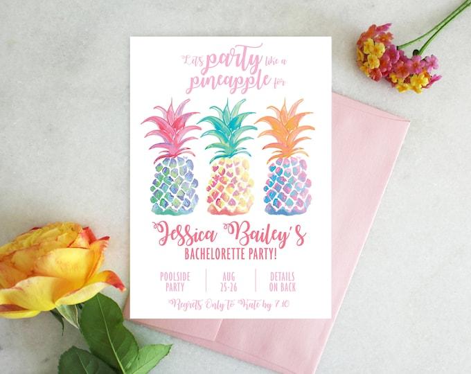 PRINTABLE Bachelorette Party Invitation | Party Like a Pineapple