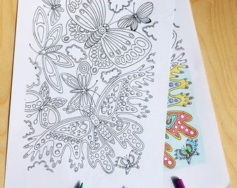 Butterfly 2, colouring sheet, download, colouring page, insect, wings,