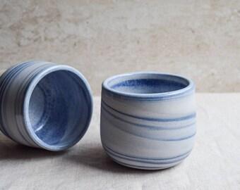 Ceramic Mug, Handmade Ceramic Mug, Blue marbled ceramic mug, contemporary mug, Ceramic Cup, Ceramic Tumbler, Porcelain Mug, Coffee Mug (M48)