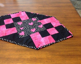 Valentine's Day Quilted Candle Mat