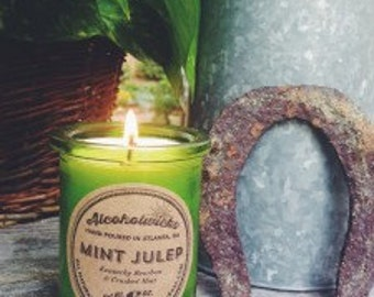 Mint Julep Candle- Alcoholwicks Mint Julep candle- Kentucky Derby