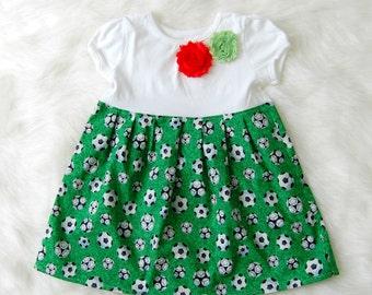 Sale!**Soccer dress**MLS soccer**World Cup**Toddler girls soccer dress**Soccer outfit**Soccer ball girls**Sport dress**Tomboy dress