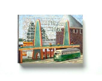 DC TRANSIT - Glen Echo - Giclée Canvas Print on Cradled Wood Panel