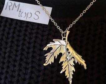 Necklace silver pendant leaf necklace leaf silver pendant