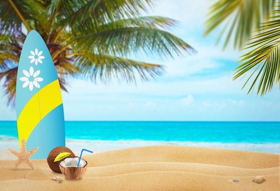 Custom Mural Wallpaper Hd Beautiful Sandy Beach Sea View: Sea Sandy Beach Photography Backdropseaside Summer Photoshoot
