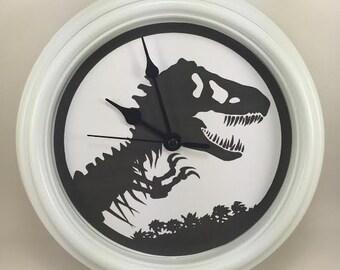 T Rex Wall Clock, DINOSAUR Clock, Wall Clock, Kids Room Décor,