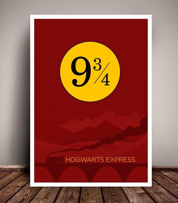 Harry Potter // Hogwarts Express // Minimalist Movie Poster // Unique Art Print