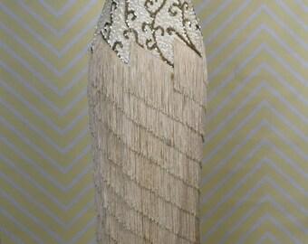 1950s sequin flapper dress