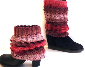 Knit Boot Socks Leg Warmers Boot Cuffs Boot Covers Boot Toppers Women Knitted Socks Winter Accessories Gifts For Her senoaccessory