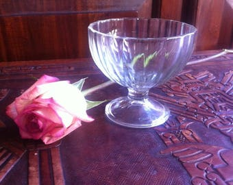 Vintage Ice cream cup, Glass Ice cream cup,