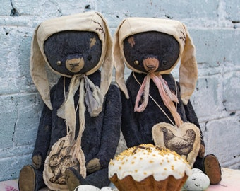 Artistic teddy bear OOAK, collectible bear, plush teddy bear, vintage toy