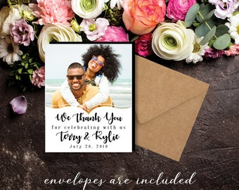 The Perfect Thank You Magnet, photo magnets, wedding favors, boho wedding, wedding thank you, party magnet + Envelopes
