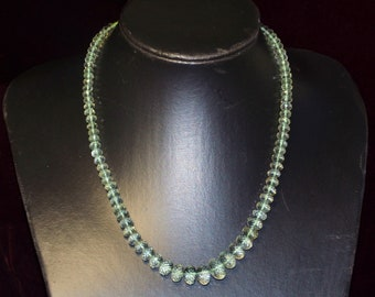 SALE GREEN AMETHYST necklace (we suggest using 0.10in 0.25mm wire)