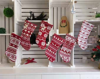 Christmas Stocking | Knitted Stocking | Christmas Tags | Custom Tags | Santa | Traditional | Reindeer | Stocking | Snowflakes | Presents