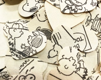 200 Charlie Brown and friends hearts  Confetti, party, wedding. Snoopy