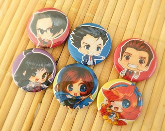 Ace Attorney Character Badges