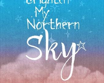 Nick Drake Song Lyric Greeting Card