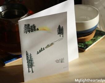 Winter Wonderland Christmas Card // Carte de Noel Paysage d'hiver
