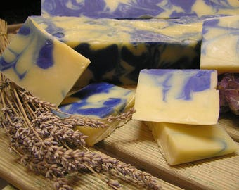Lavender and Lemongrass Handmade Soap -- Organically made with the purest of essential oils