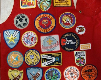 Felt Boy Scout Vest with Sunnyland Patches Reduced