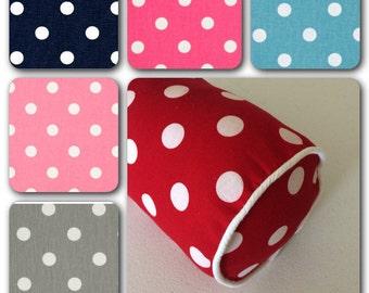 Polka Dots Bolster Pillow Cover, Decorative Bolster Pillow Cover, Bedroom Bolster Pillow Cover