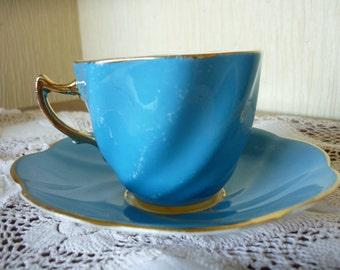 Vintage Rosina Bone China Cup and Saucer set,  China cup and saucer set. Two available. C.