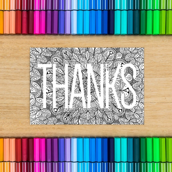 THANK YOU card Thanks - c...