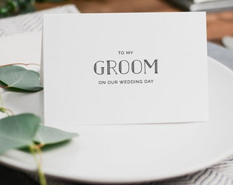 To My Groom On Our Wedding Day, I Can't Wait To Marry You, Wedding Card to Groom, Wedding Day Card, Wedding Cards, Future Husband Card, K5