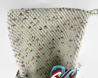 Thick Cotton Hot Pad, Crocheted Potholder, Autumn Trivet, Gift for Cooks, Fall Hostess Gift, Bridal Shower Gift