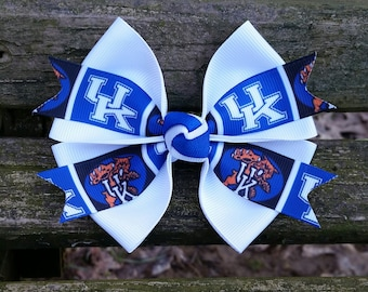 UK- University of Kentucky Hair Bow (4 inch)