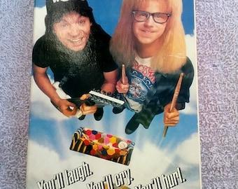 Waynes World 1992 VHS Video Movie vintage Mike Myers Dana Carvey Tia Carrere