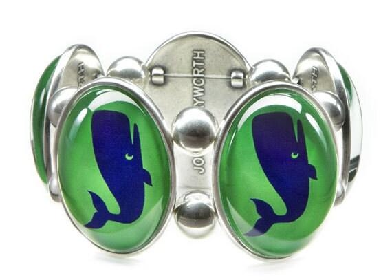 Preppy Green Whale Stretch Bracelet