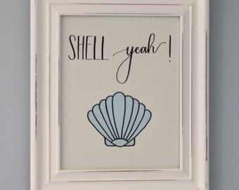 Shell Yeah! Framed Print