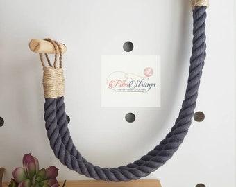Handmade Jute Rope Curtain Tie Backs | Single (1) or a Pair (2) | Window Furnishings